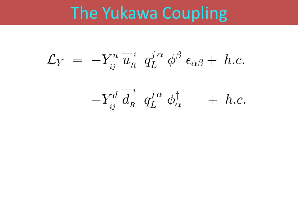 The Yukawa Coupling