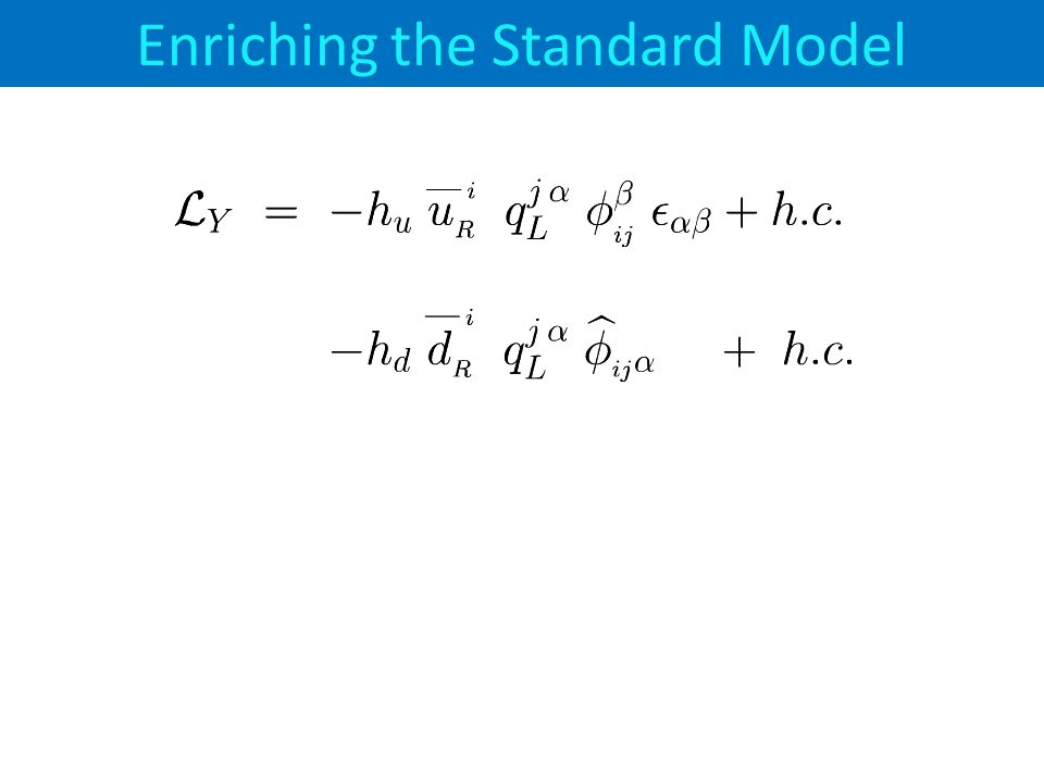 Enriching the Standard Model