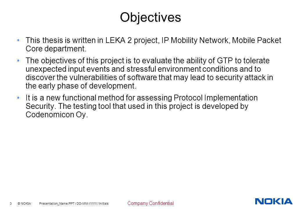objectives of nokia company