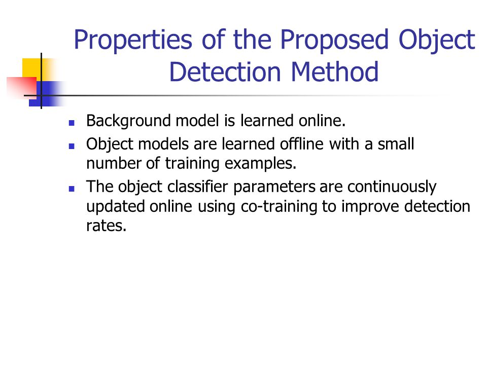 Robust Moving Object Detection & Categorization using self