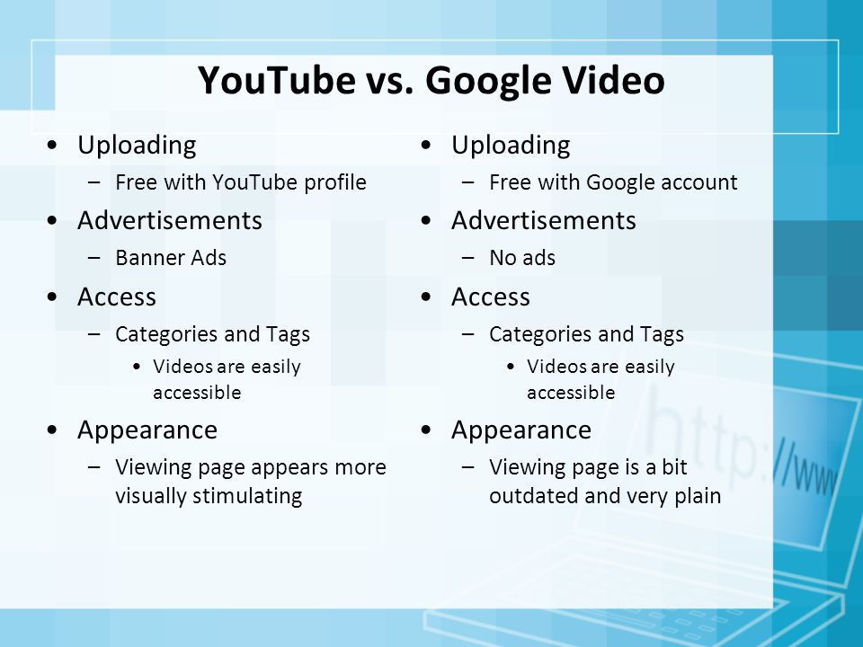 YouTube vs.