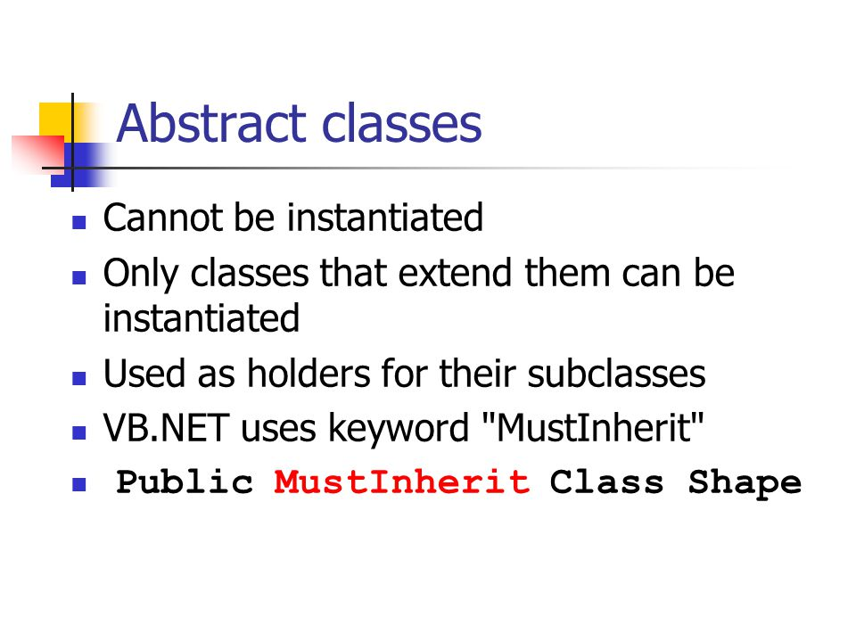 More about classes and objects Classes in Visual Basic NET