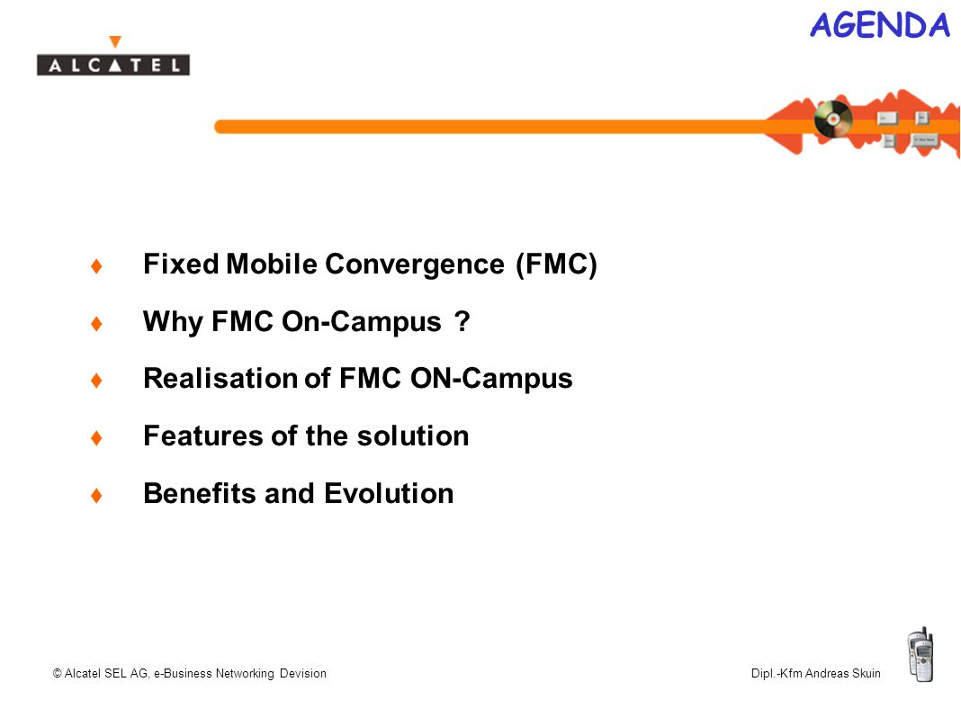 Fixed Mobile Convergence On-Campus Today's Future Solution  - ppt