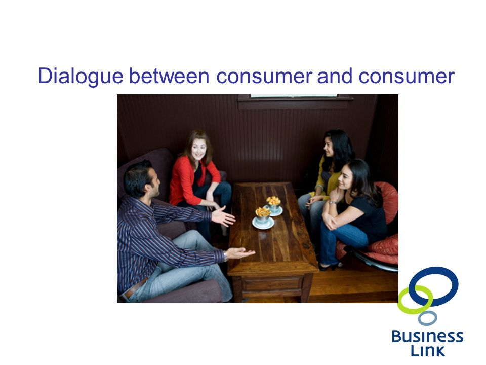 Dialogue between consumer and consumer