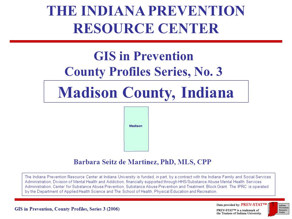 Gis In Prevention County Profiles Series 3 2006 5 Basic
