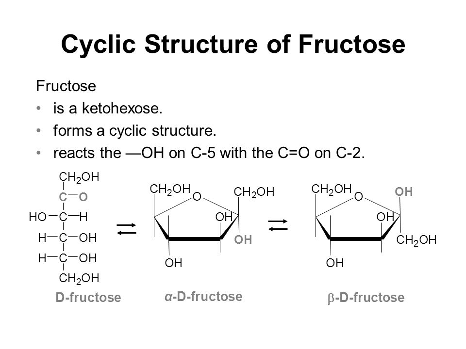 cyclic structure of fructose fructose is a ketohexose