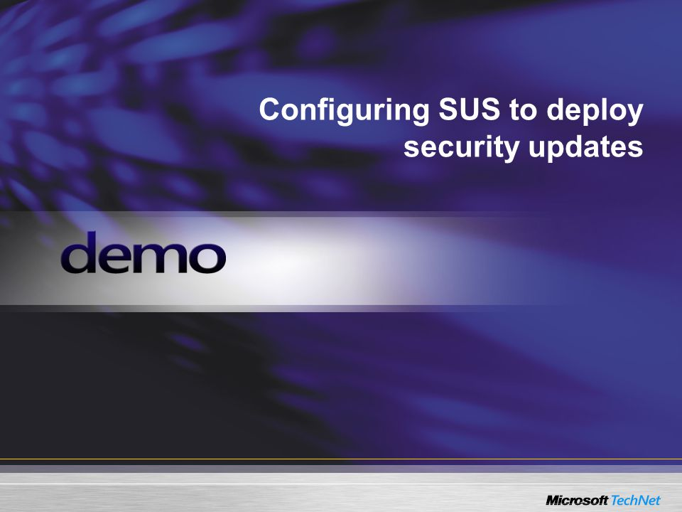 Configuring SUS to deploy security updates