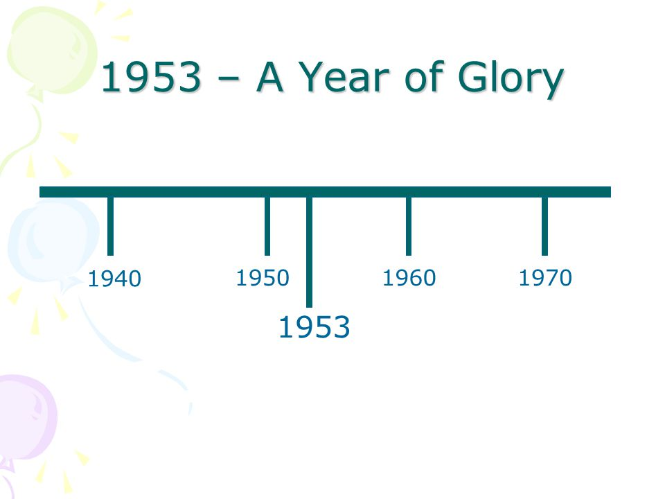 1953 A Year Of Glory B Hart St Thomas Lydiate Ppt Download