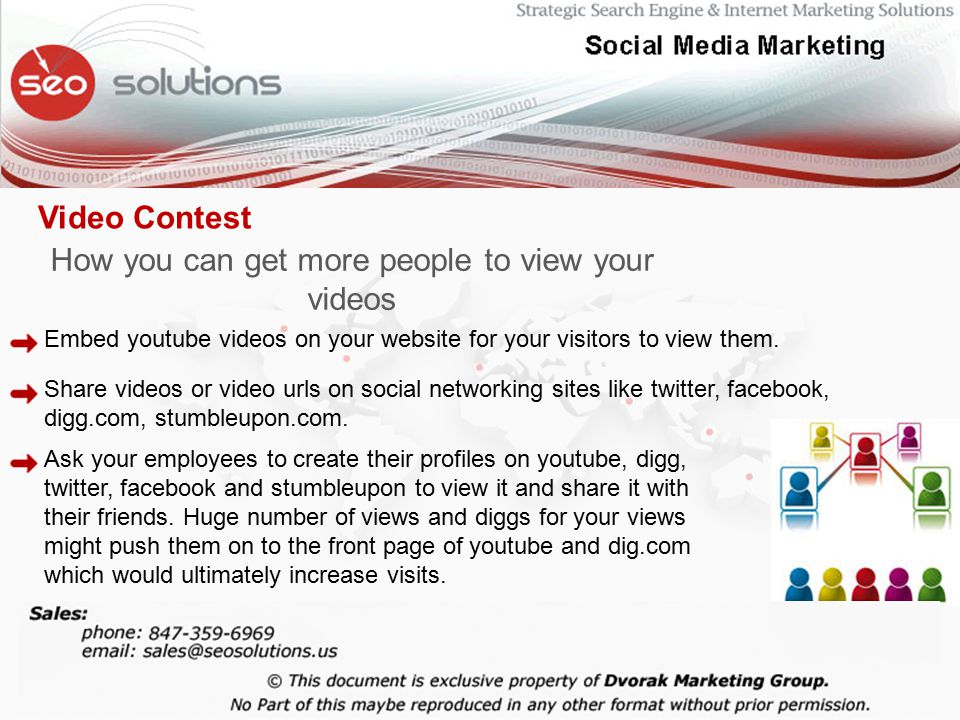 How you can get more people to view your videos Embed youtube videos on your website for your visitors to view them.