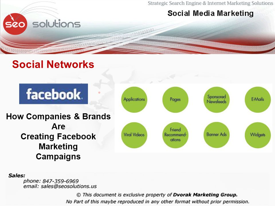 Social Networks How Companies & Brands Are Creating Facebook Marketing Campaigns