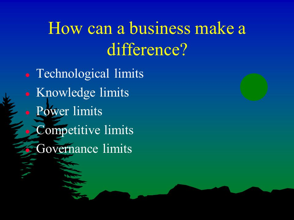 How can a business make a difference.