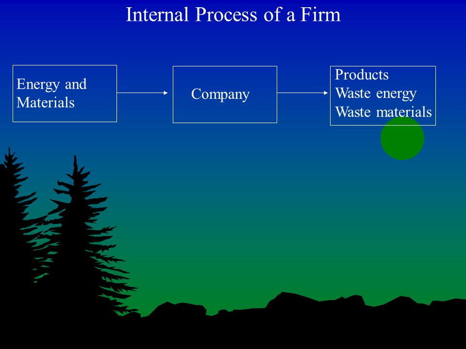 Internal Process of a Firm Energy and Materials Company Products Waste energy Waste materials