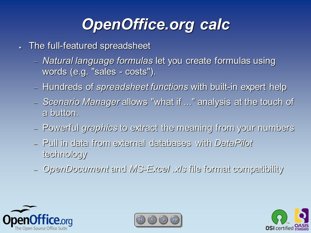 OpenOffice org 2 2 ○ Everything you need in an office