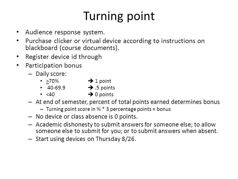 Turning point Audience response system.
