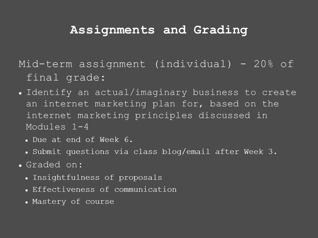 technology assignments