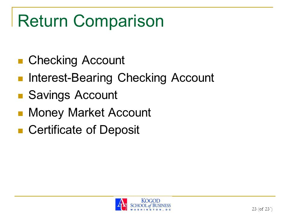 1 Of 23 Fin 200 Personal Finance Topic 16 Short Term Investments
