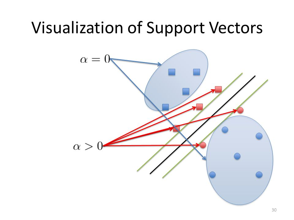 Visualization of Support Vectors 30