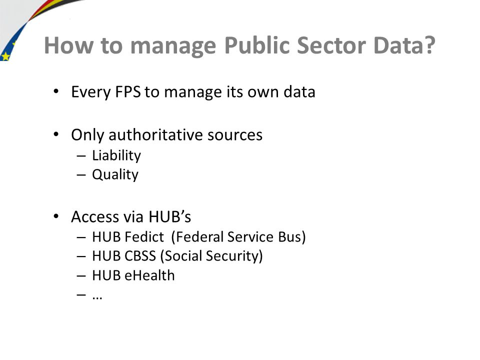 How to manage Public Sector Data.