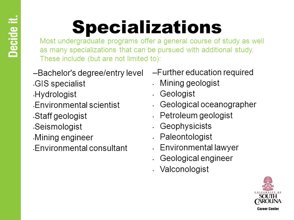 What Can I Do With A Major In Earth And Ocean Sciences Ppt Download