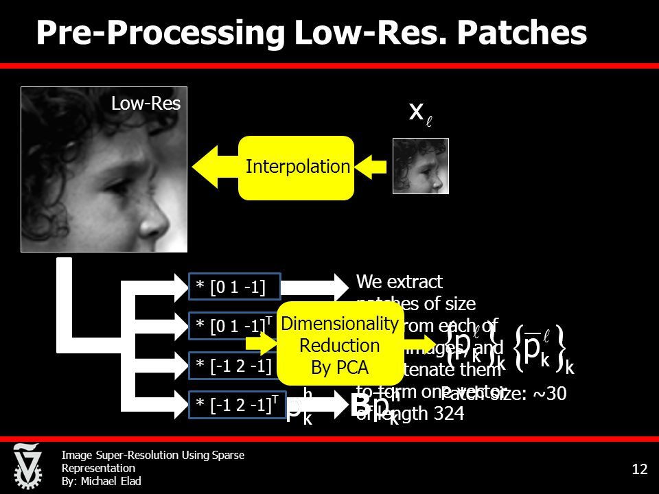 Image Super-Resolution Using Sparse Representation By: Michael Elad