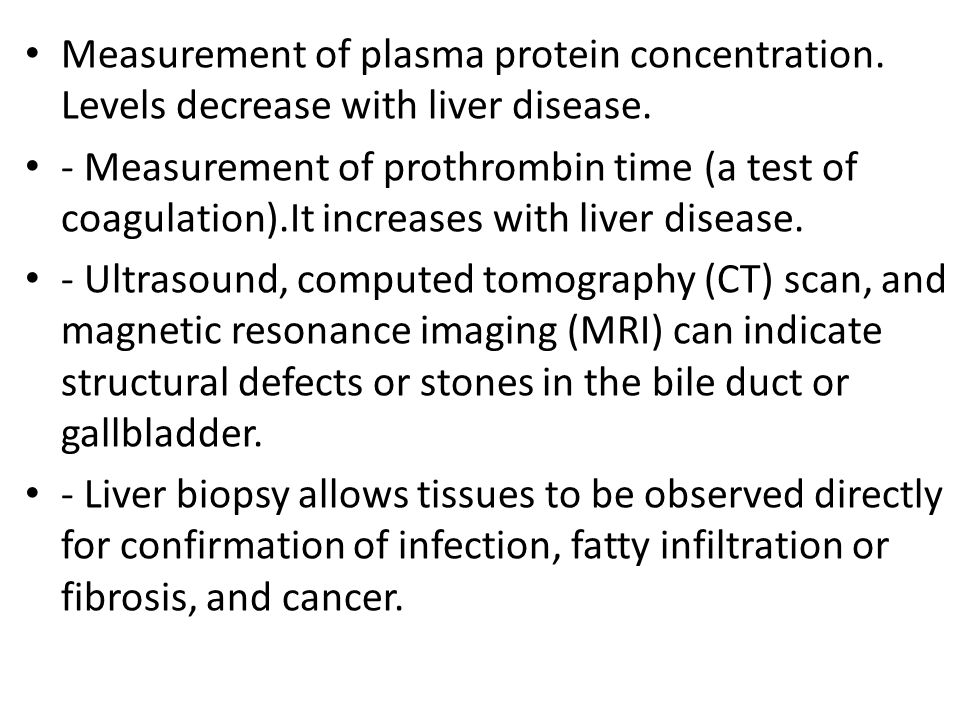 Measurement of plasma protein concentration. Levels decrease with liver disease.