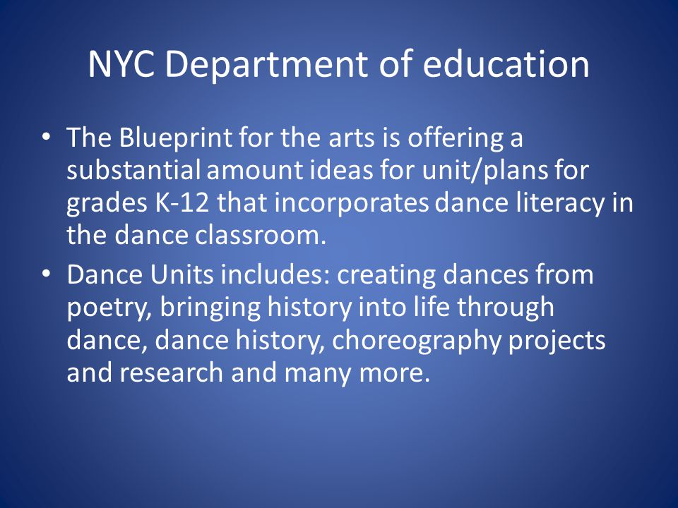 Arts and literacy projects and theories that contributes to the 5 nyc department of education the blueprint malvernweather Choice Image