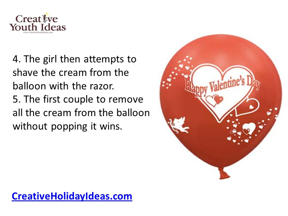4. The girl then attempts to shave the cream from the balloon with the razor.