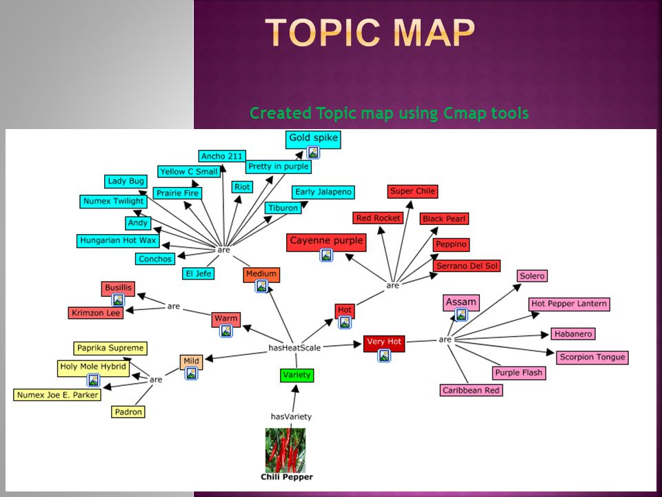Created Topic map using Cmap tools