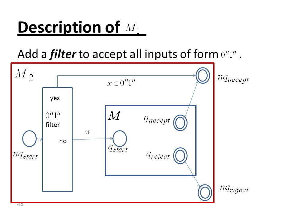 Add a filter to accept all inputs of form. Description of___ 45 filter no yes