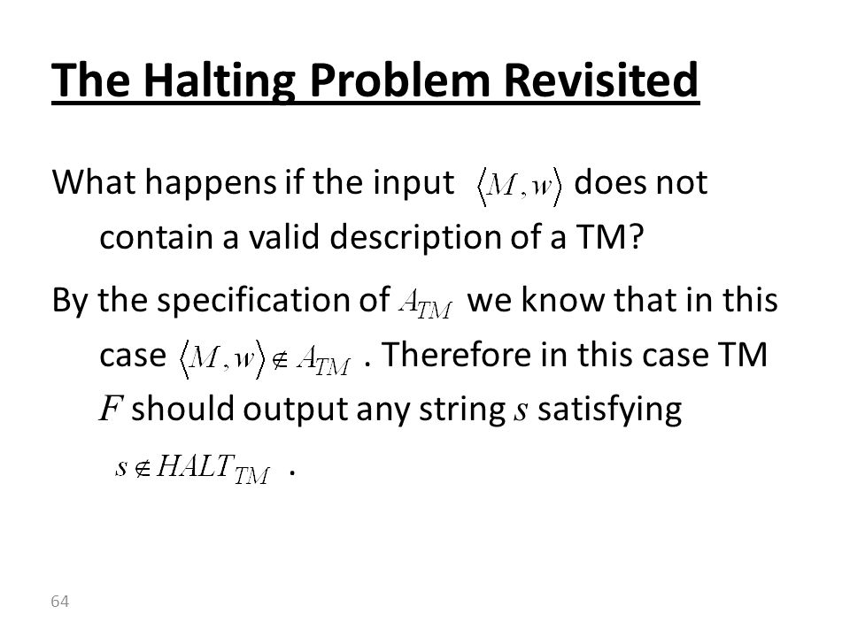 What happens if the input does not contain a valid description of a TM.