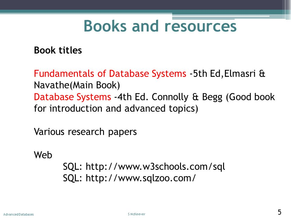 Lecture 1 Intro Databases and Information Systems DT210 S