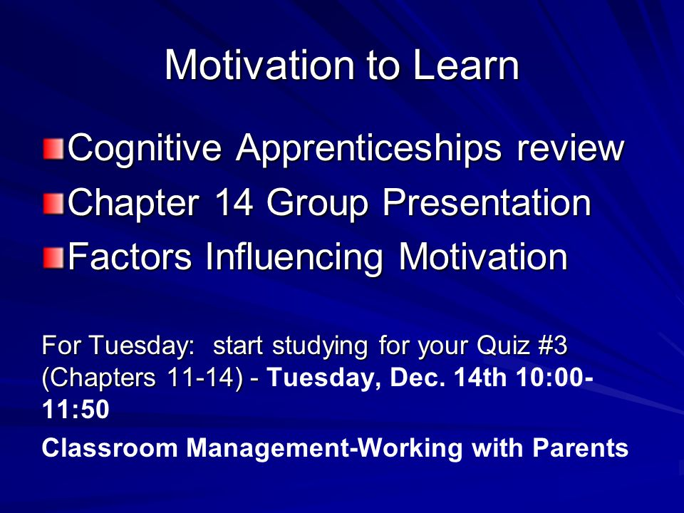 advertisements concerning attention cognitive learning and motivation 2 definition • cognitive approaches to learning are concerned with how information is processed by learners (gillian gunderson : 2009) • cognitive theories view students as active in an internal learning process that involves memory, thinking, reflection, abstraction, motivation, and.