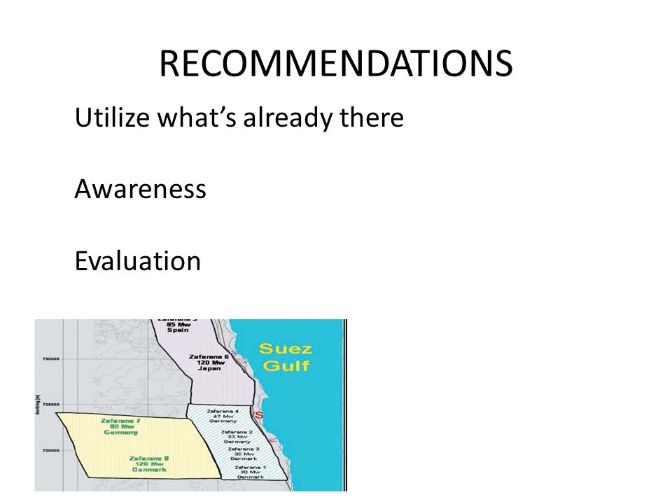 RECOMMENDATIONS Utilize what's already there Awareness Evaluation