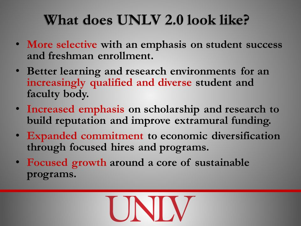 What does UNLV 2.0 look like.
