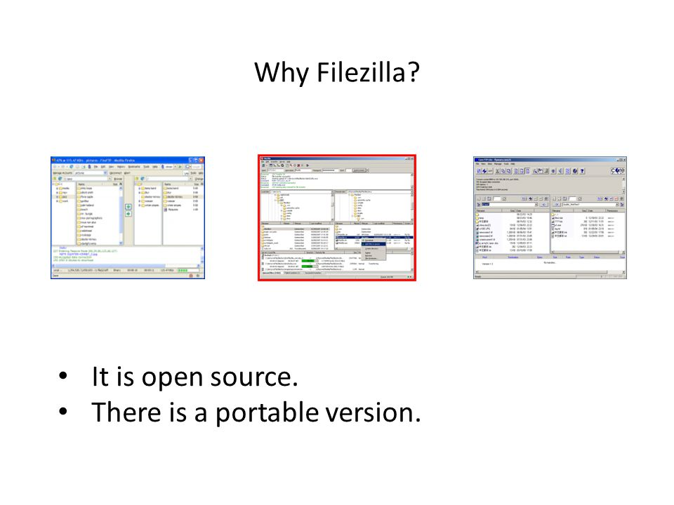 Skills: install and use Filezilla Concepts: client-server