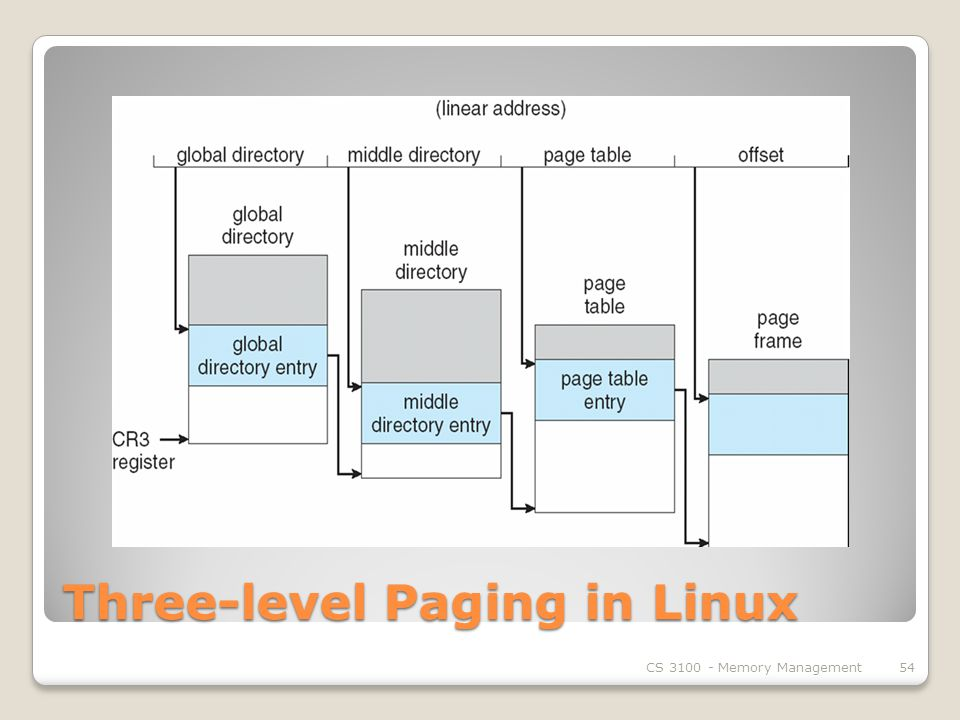 Three-level Paging in Linux CS Memory Management54