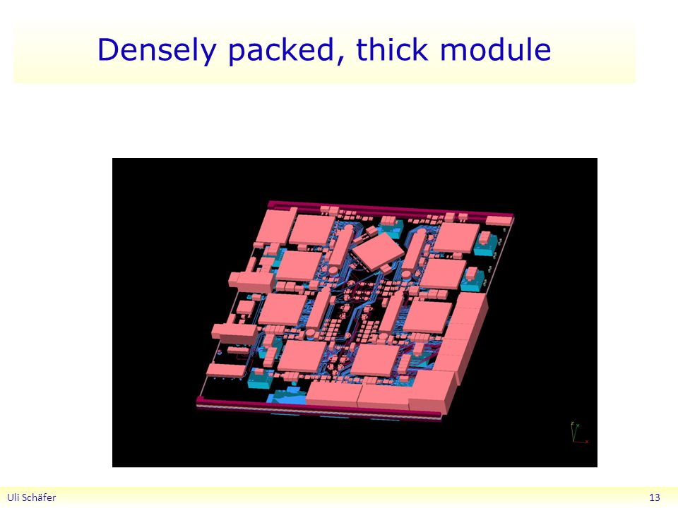 Densely packed, thick module Uli Schäfer 13