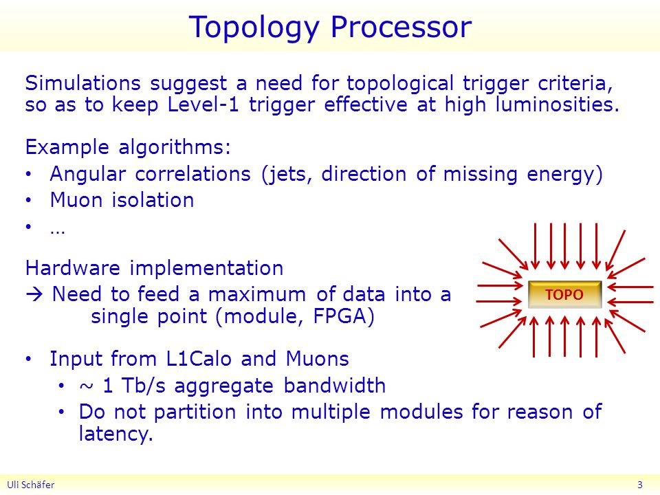 Topology Processor Simulations suggest a need for topological trigger criteria, so as to keep Level-1 trigger effective at high luminosities.