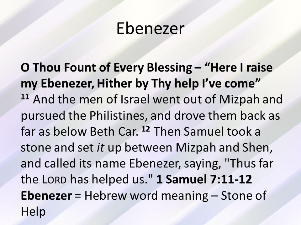 EBENEZER And other song lyrics we need to understand 1 Corinthians ...