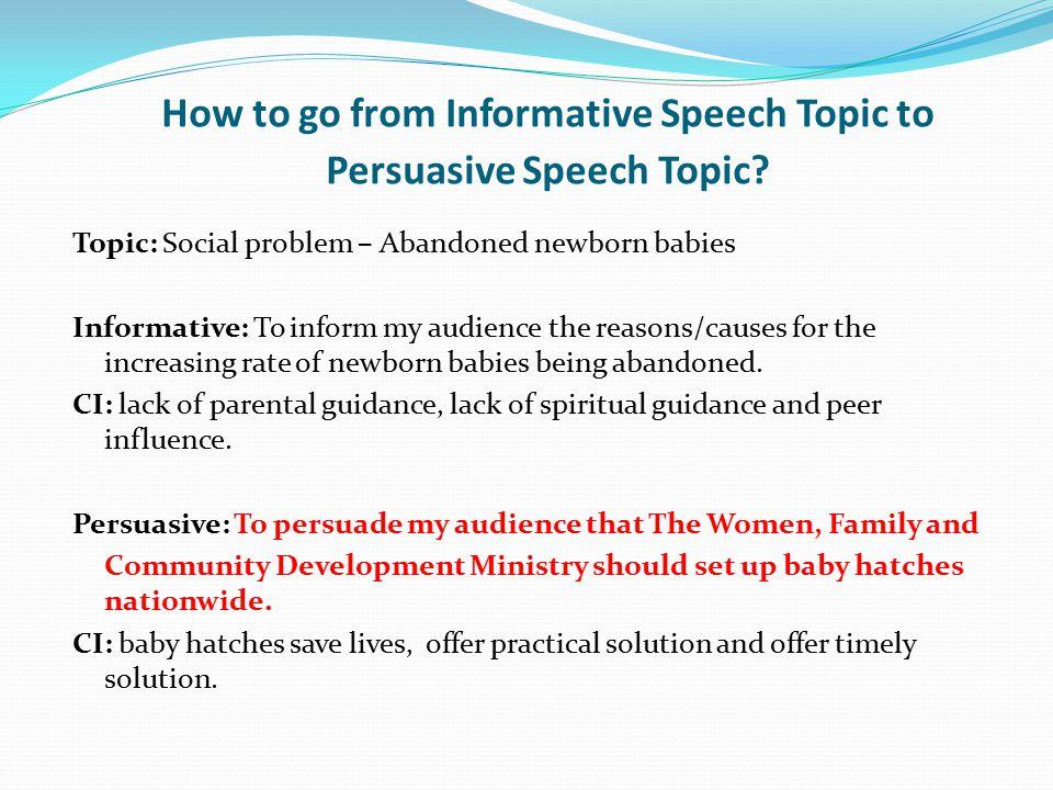 informative speech topics social issues