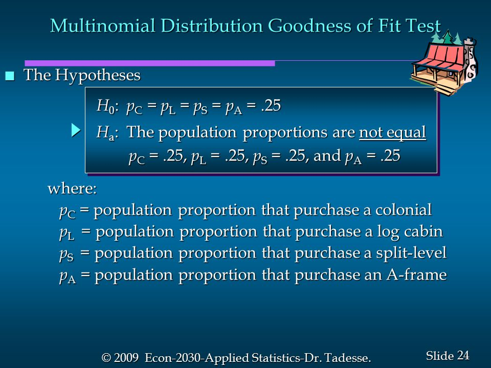 24 Slide © 2009 Econ-2030-Applied Statistics-Dr. Tadesse.