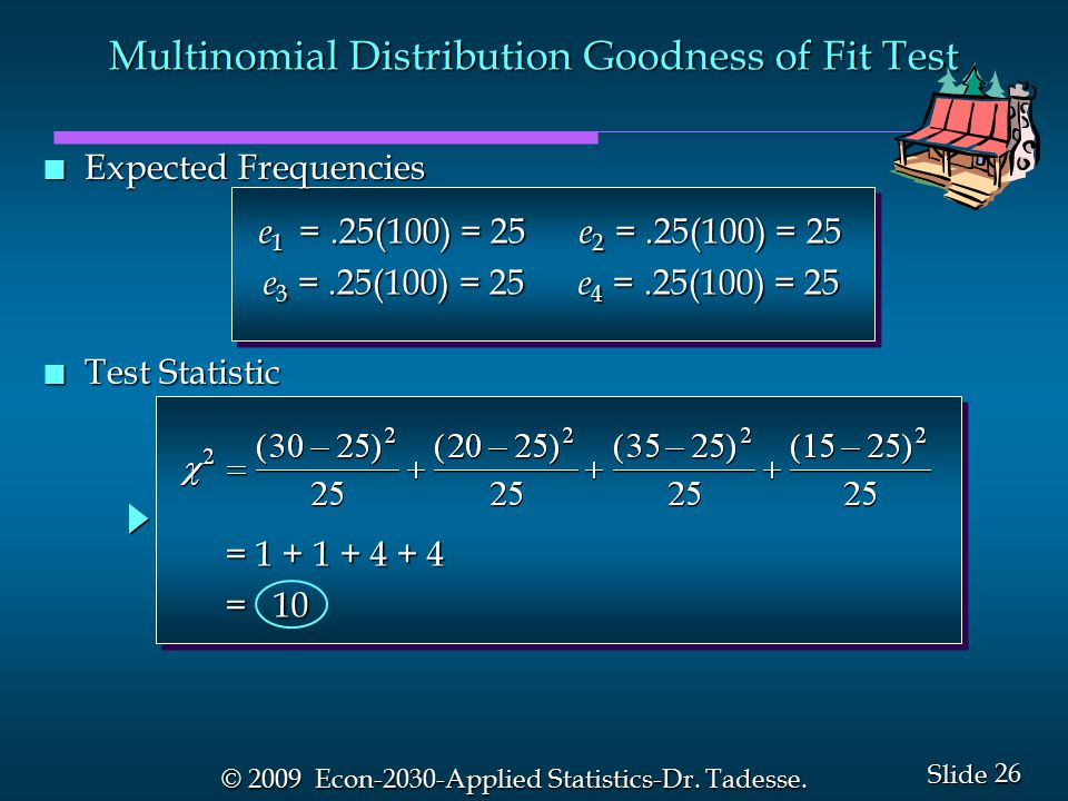 26 Slide © 2009 Econ-2030-Applied Statistics-Dr. Tadesse.