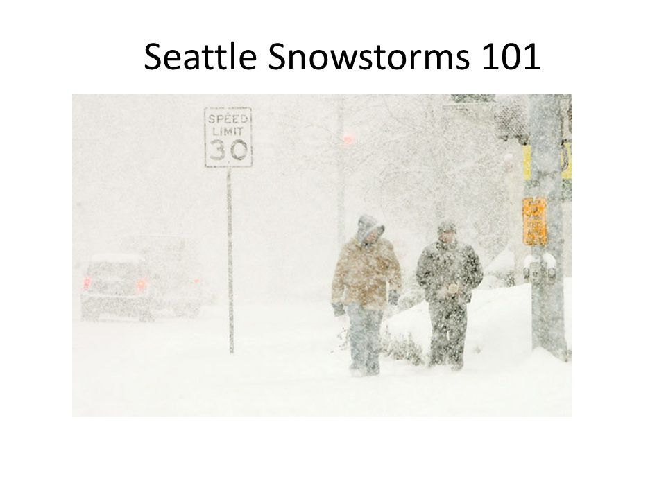 Seattle Snowstorms 101