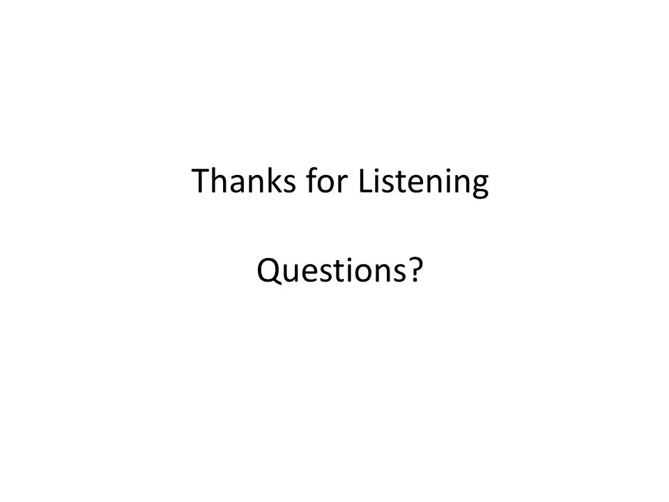Thanks for Listening Questions