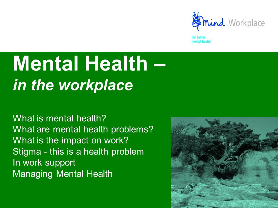 Mental Health In The Workplace What Is Mental Health What Are