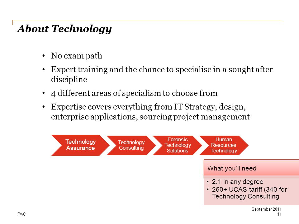 Opportunities at PwC 2011 and beyond - ppt download