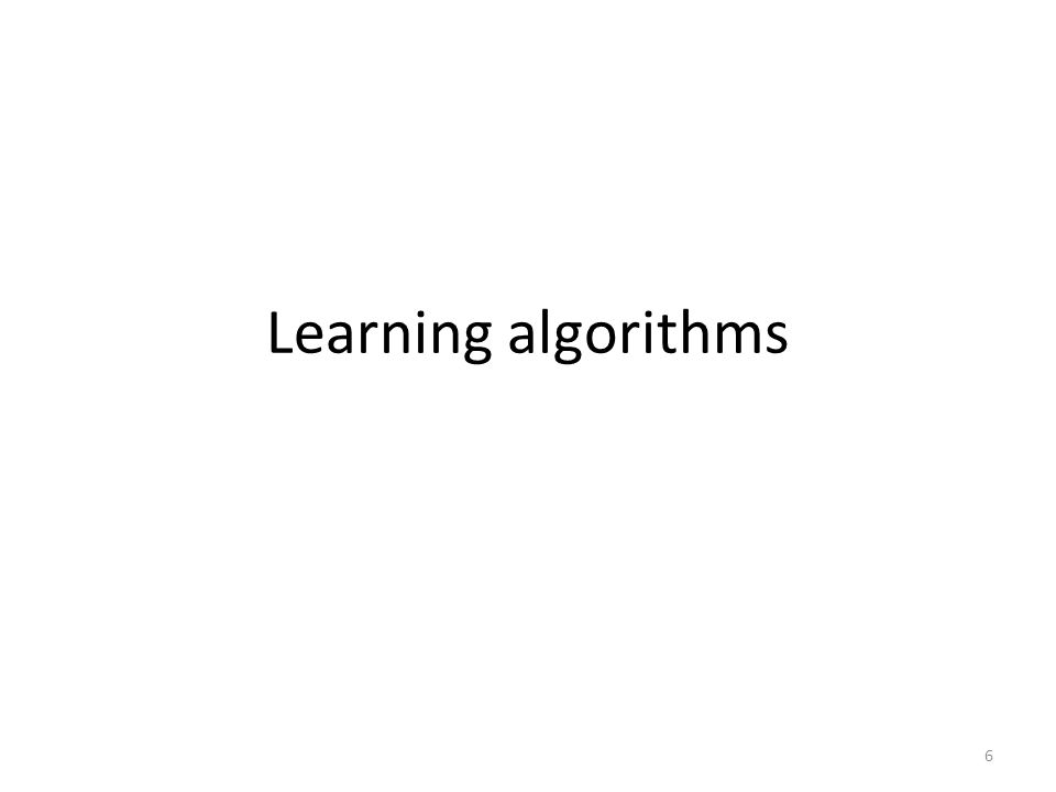 Learning algorithms 6