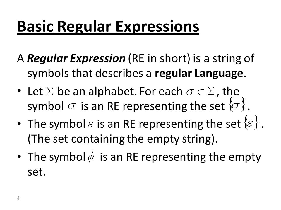 1 Introduction To Computability Theory Lecture3 Regular Expressions