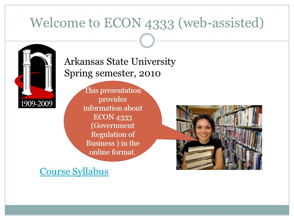 welcome to econ 4333 web assisted arkansas state university spring rh slideplayer com Curriculum Pacing Guide For Pacing Guide for Teachers