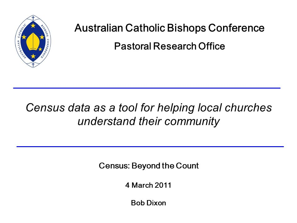 Census Data As A Tool For Helping Local Churches Understand